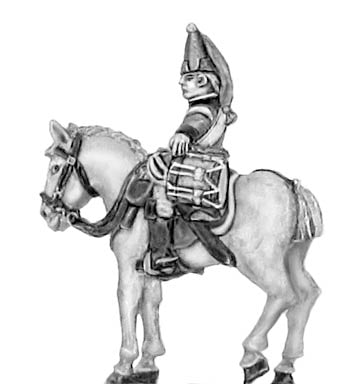 Horse Grenadier drummer in mitre (18mm)