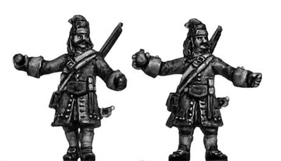 Catalonian Grenadiers, throwing grenades (18mm)