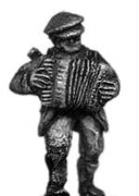 Soviet militia/partisan accordianist (15mm)