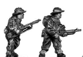 Gurkha Bren LMG and crew in slouch hat (15mm)
