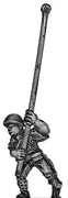 Japanese infantry standard bearer in helmet advancing (15mm)