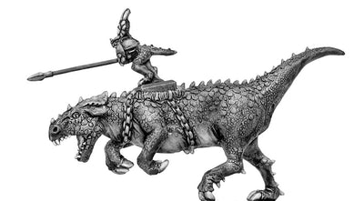 Lizard Hero riding Megasaur (10mm)