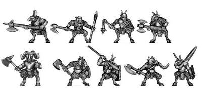 Ogre Beasts and Beast Lord Command (10mm)