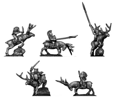 Elves mounted on stags (10mm)