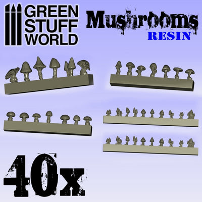 40x Resin Mushrooms and Toadstools