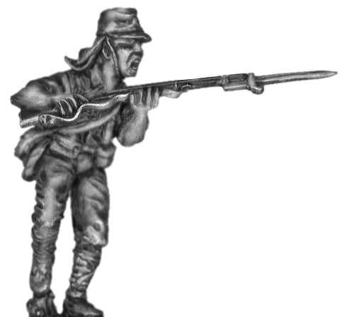World War Two Japanese infantryman charging with rifle (40mm)