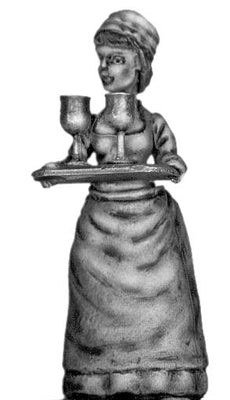 Serving Wench with full tray (40mm)