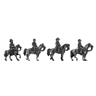 Union Generals - Meade, McLellan, Grant, Sherman (15mm)