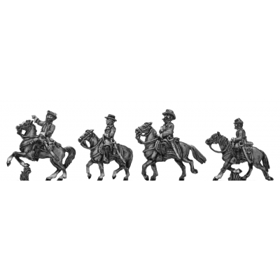 Confederate Generals - Lee, Longstreet, Jackson, Stuart (15mm)
