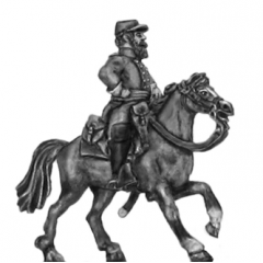 Mounted Officer in cap (15mm)