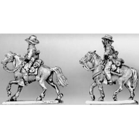 Trooper riding with pistol, hat (15mm)