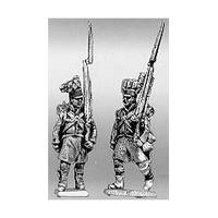 Highland infantry flank company, marching, shoulder arms (18mm)