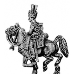 Dragoon trumpeter, in turban (18mm)