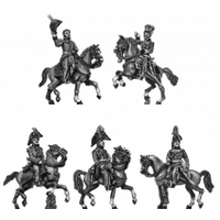 Hill and Uxbridge, mounted and three ADCs  (18mm)