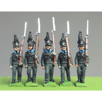 Leib Regiment marching, Waterloo (18mm)