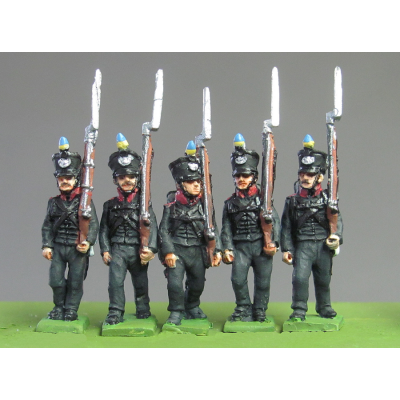 Line Infantry marching, Waterloo (18mm)