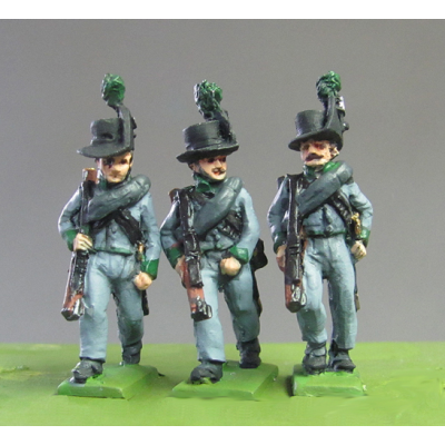 Avantgarde Rifles marching, Waterloo (18mm)