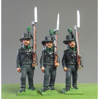 Avantgarde Muskets marching, Waterloo (18mm)