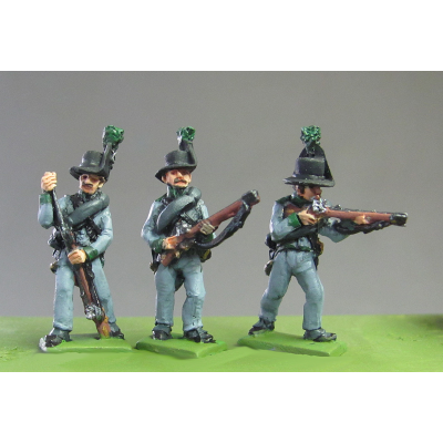 Avantgarde Rifles skirmishing, Waterloo (18mm)
