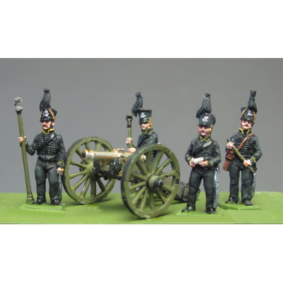 Horse Artillery Crew, Waterloo (18mm)