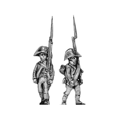 Musketeer, march attack (18mm)