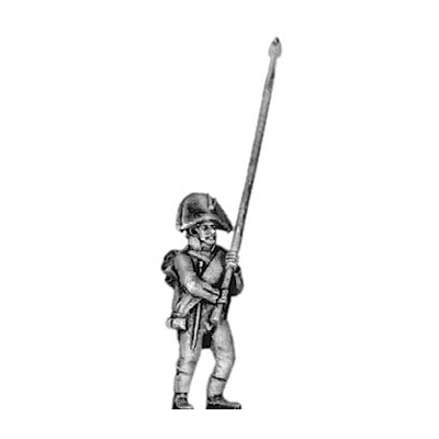 Musketeer standard bearer, bicorne (18mm)