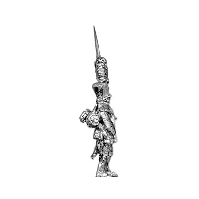 Grenadier, shako, march attack (18mm)
