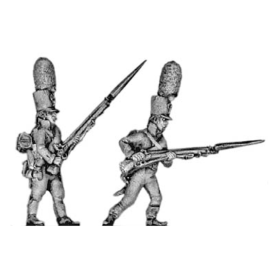 Grenadier, shako, advancing (18mm)