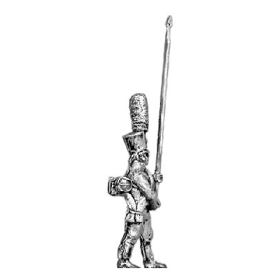 Grenadier standard bearer, shako (18mm)