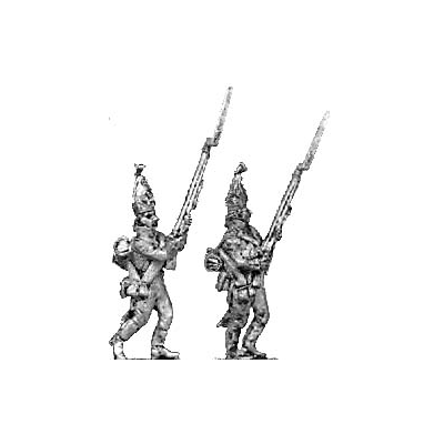 Grenadier, mitre, advancing (18mm)