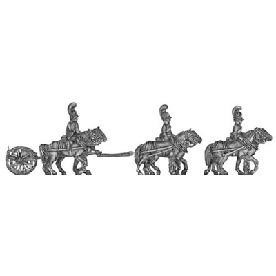 Horse artillery light limber team (18mm)