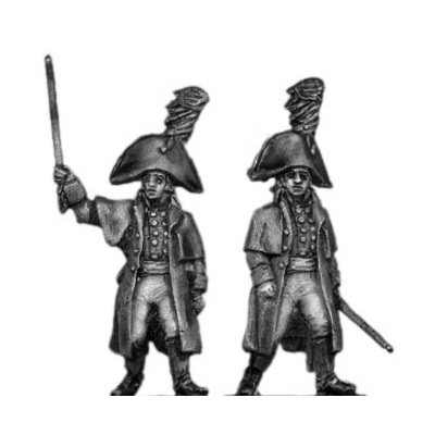 Musketeer officer, greatcoat (18mm)
