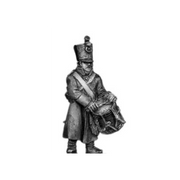 Musketeer drummer, shako, greatcoat (18mm)