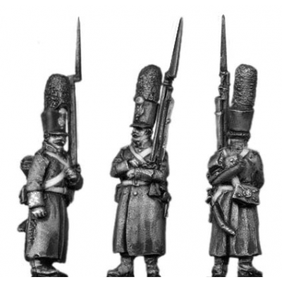 Grenadier, shako, greatcoat, march attack (18mm)