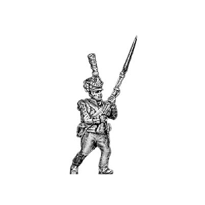 Grenadier, lozenge plate, shako cords and plume, advancing (18mm)