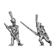 Voltigeur, covered shako, skirmishing (18mm)