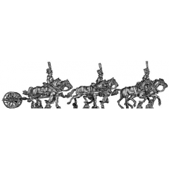 Guard horse artillery limber - galloping (18mm)