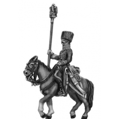 Chasseur a cheval de la garde - later uniform Eagle Bearer (18mm)