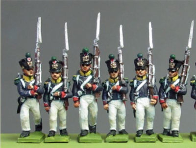 NEW - Young Guard, Waterloo 1815, marching (18mm)