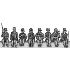 German seated infantry (20mm)