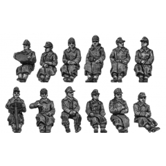 German seated Infantry - greatcoat (20mm)