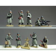 Greatcoat officers, HMG and 8cm mortar (20mm)