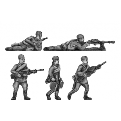 Caps, DP LMG crews moving and firing (20mm)