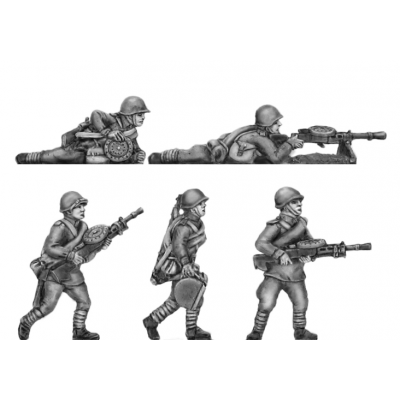 Helmets, DP LMG crews moving and firing (20mm)