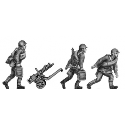 Maxim gun team, helmets, advancing (20mm)