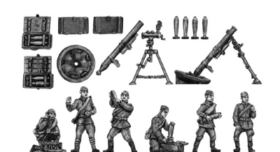 120mm Mortars and crew (20mm)