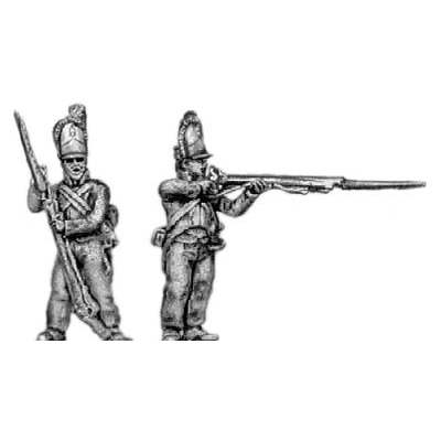 Grenadiers, firing and loading (18mm)