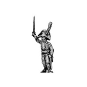 Officer, with sword (musketeers and grenadiers) (18mm)