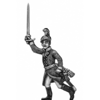 German fusilier officer, helmet, advancing (18mm)