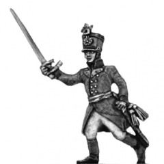 German fusilier officer, shako, advancing (18mm)
